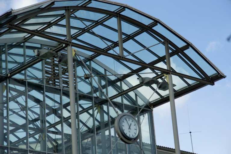 Dach des Kornwestheimer Bahnhofs